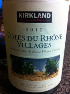 Kirkland Cotes Du Rhone Villages 2010