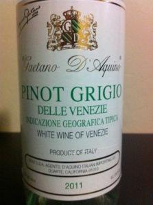 Gaetano D' Aquino Pinot Grigio 2011