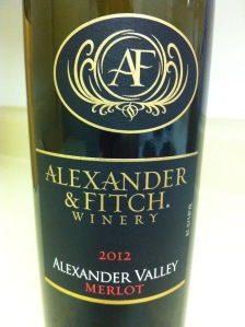 Alexander & Fitch Winery Alexander Valley Merlot 2012