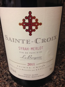 Sainte-Croix Syrah-Merlot 2011
