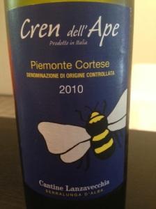 Cren dell' Ape Piemonte Cortese Blanc 2010