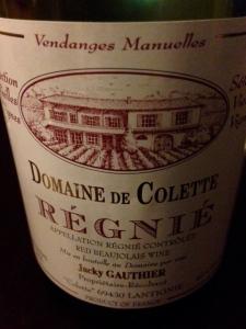 Domaine de Colette Regnie 2011