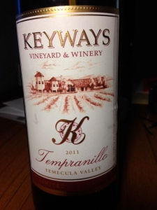 Keyways Tempranillo 2011