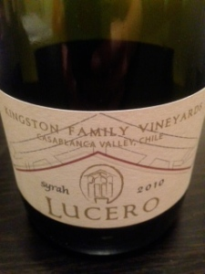 Kingston Family Vineyards Lucero Syrah 2010