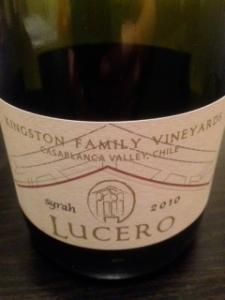 Kingston Family Vineyards Lucero Syrah 2010