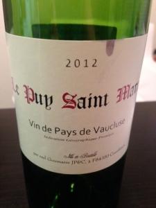 Red Vin de Pays Wine 2012