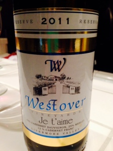 Westover Je t'aime 2011