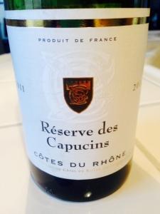 Reserve des Capucins Cotes du Rhone 2011