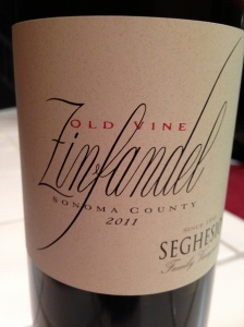 Seghesio Old Vine Zin Sonoma County 2011