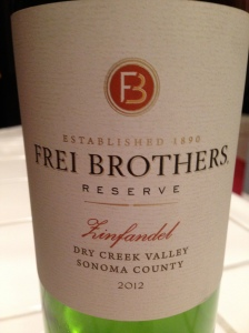 Frei Brothers Reserve Zinfandel Dry Creek 2012