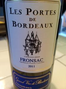 Les Portes de Bordeaux Fronsac 2011