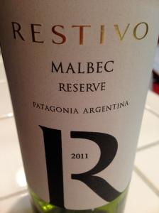 Restivo Malbec Reserve 2011