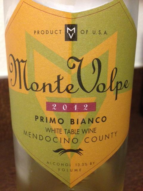 monte volpe primo bianco 2012 white table wine the vino duo. Black Bedroom Furniture Sets. Home Design Ideas