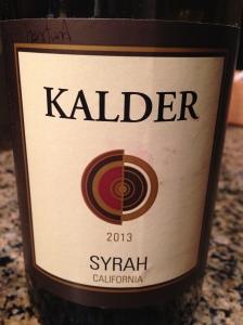 Kalder Syrah 2013