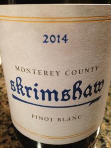Skrimshaw Pinot Blanc Monterey County