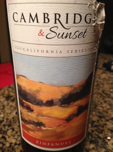 Cambridge & Sunset Zinfandel
