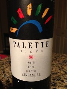 Palette Ridge Old Vine Zinfandel 2012